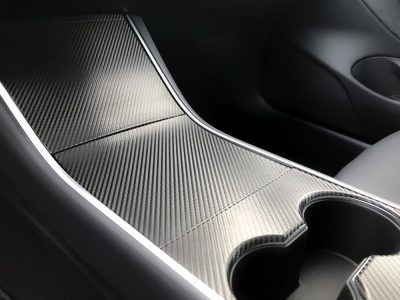 Carbon Fiber Model 3 Center Console Wrap